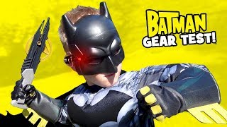BATMAN Super Hero Gear Test & Spy Gear Toys Review for KIDS! by KIDCITY
