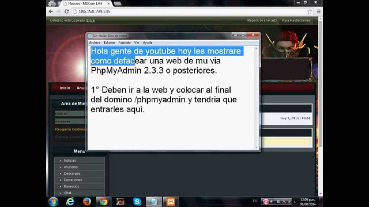 Phpmyadmin2016 - Como Defacear Web De Mu Phpmyadmin 2016
