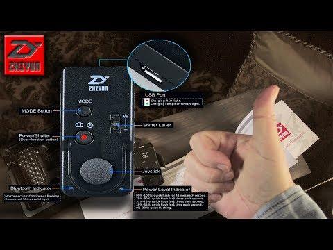 Zhiyun Wireless Remote Control ZW-B02 Overview and 1st Test