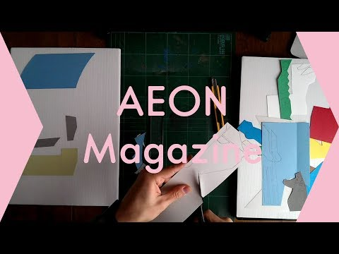 029_貼り絵イラスト(イオンマガジン)メイキング / Making illustration: AEON Magazine