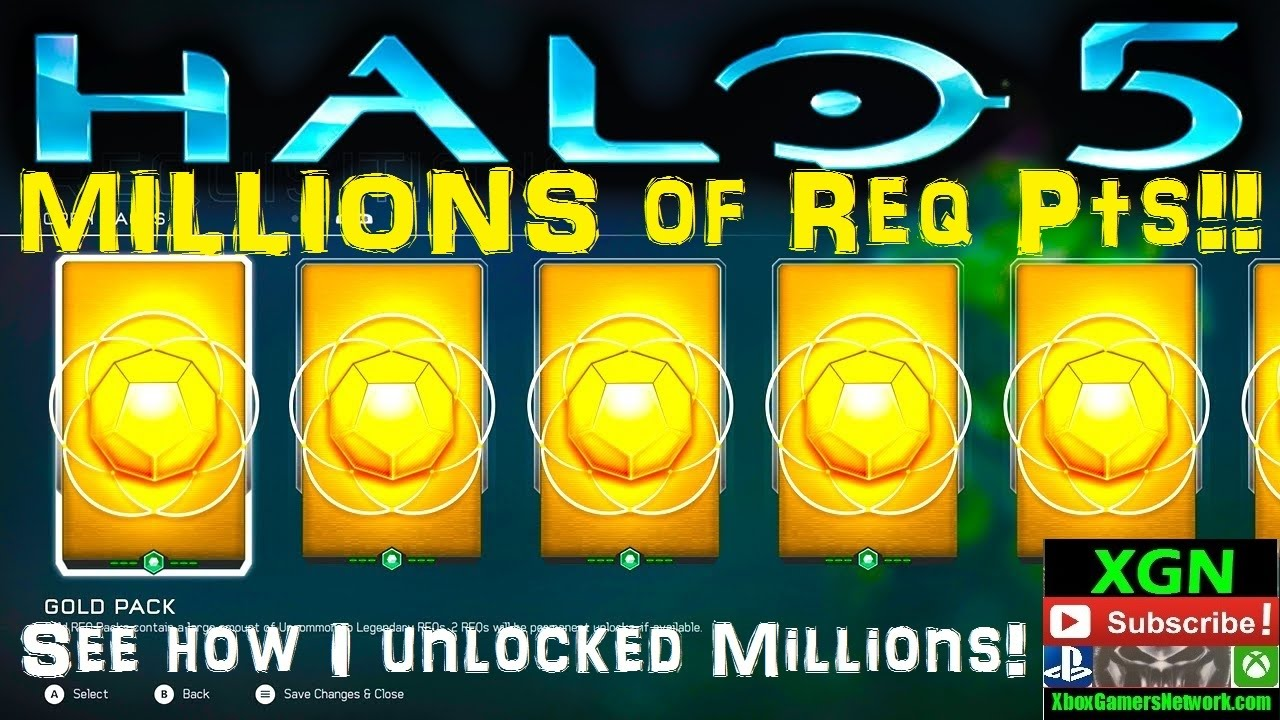 Halo 5 how to unlock MILLIONS of req points! Pro tips for best req point  rewards