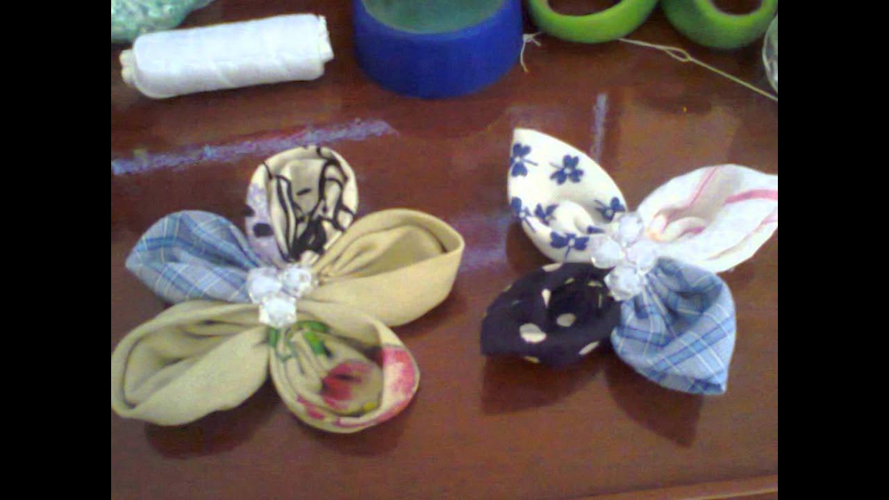 Flores con retazos de tela youtube - Colgador de tela con bolsillos ...