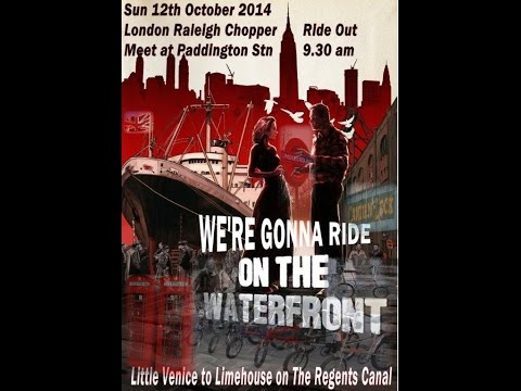 On The Waterfront Raleigh Chopper London Regents Canal Ride Out 12 October 2014