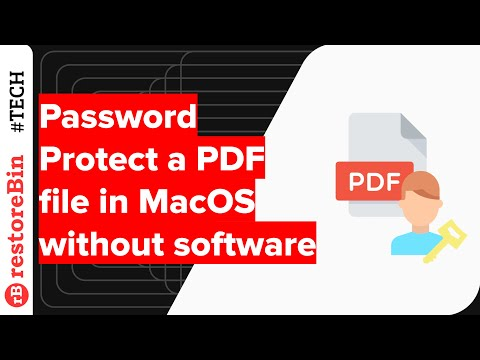 Change or encrypt PDF file in Mac OS without software, but how? 1