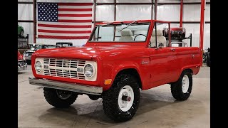 1968 Ford bronco half cab red
