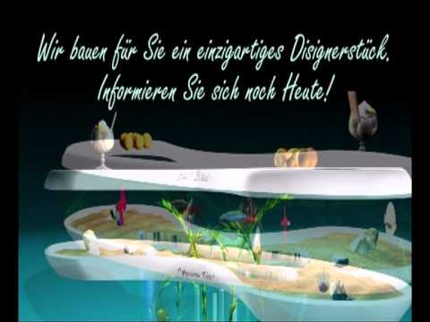 aquarium tisch s salzwasser geschlossenes system acrylglas youtube. Black Bedroom Furniture Sets. Home Design Ideas