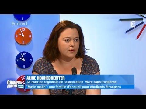 France 3 Champagne-Ardenne Matin : L'accueil des étudiants étrangers en famille (20 mai 2014)