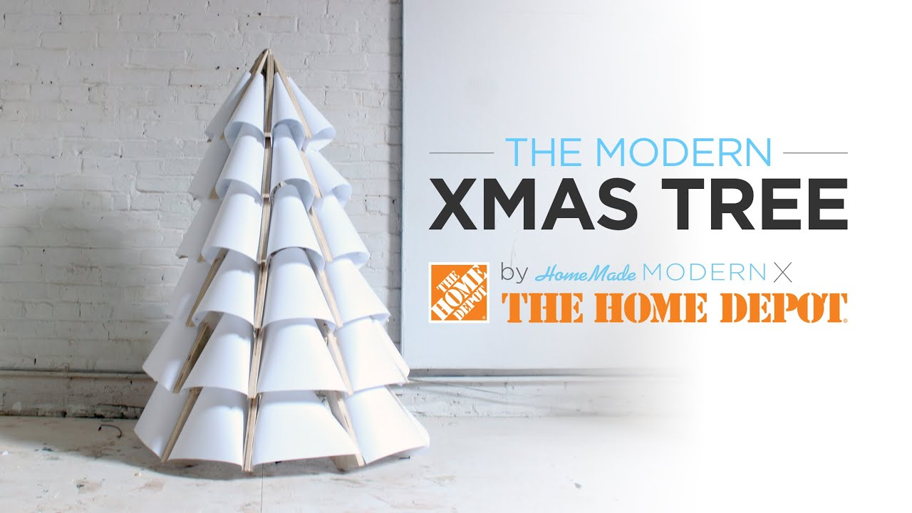how to make a modern wooden christmas tree out of plywood youtube