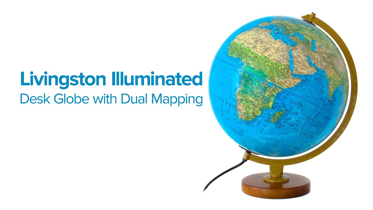 The Livingston Illuminated Desk Globe with Dual Mapping YouTube