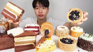 스타벅스 10종류 케이크 먹방 ~~