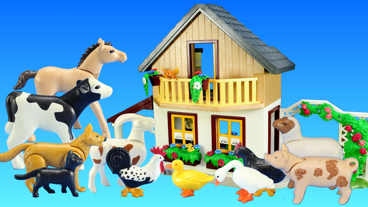 Playmobil Farm House with Market and Farm Animals Building Toy For ... for Farmhouse Playmobil  157uhy
