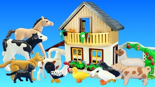 Playmobil Farm House with Market and Farm Animals Building Toy For Kids