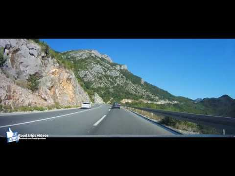 ROAD TRIP: from the Adria coast in Montenegro to the border of Serbia / driving through Montenegro