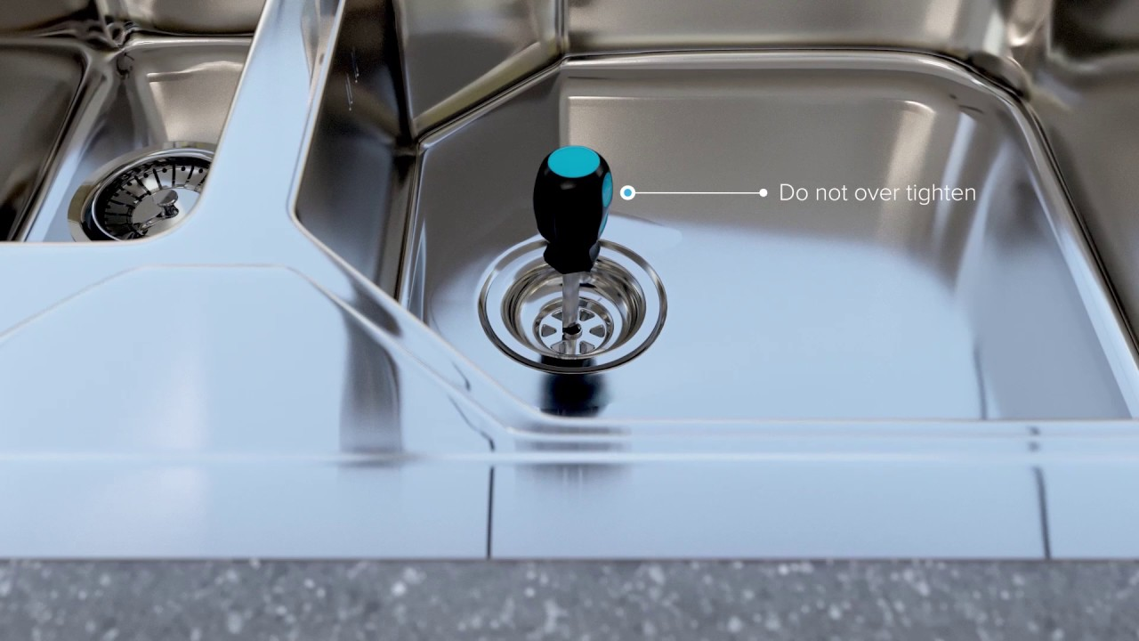 How To Install Or Replace A Basket Strainer Sink Waste In Kitchen