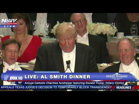 FULL: Donald Trump Roasts Hillary Clinton At 2016 Al Smith Dinner - FNN