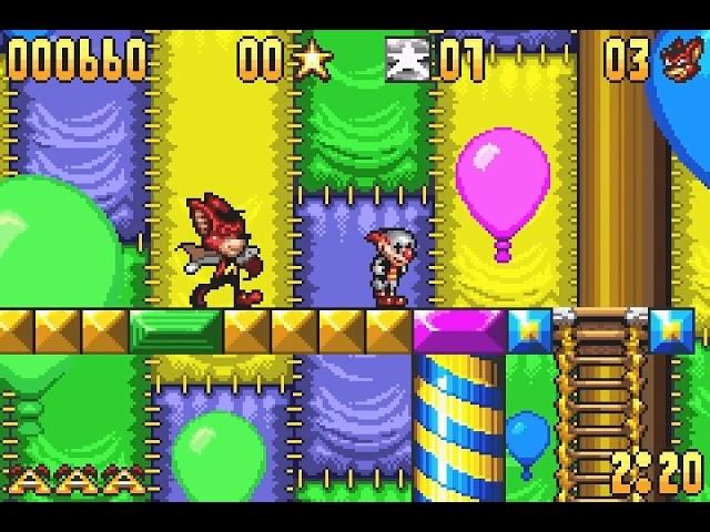 Jouez à Aero the Acro Bat sur Gameboy Advance grâce à nos Bartops Arcade et Consoles Retrogaming