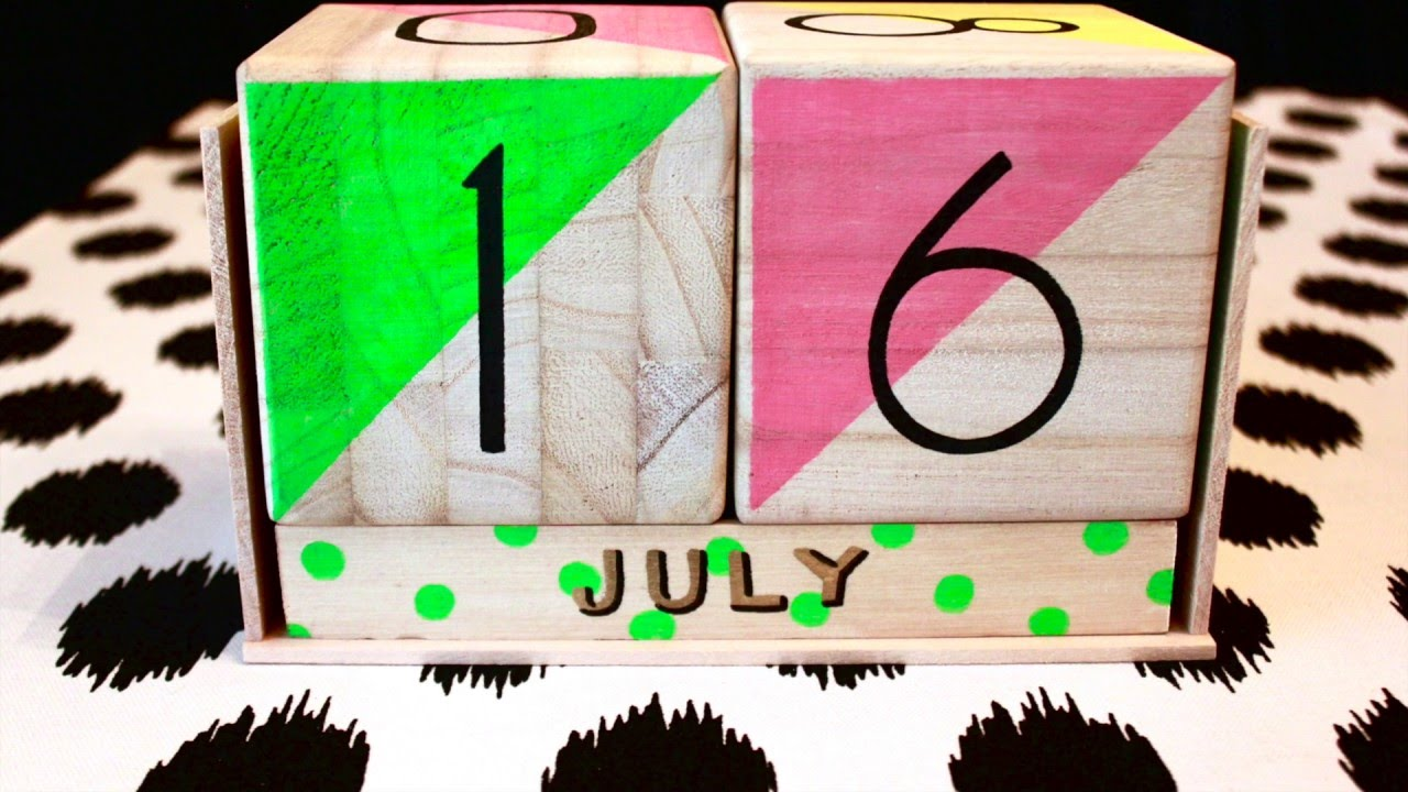 Perpetual Wood Block Calendar Youtube