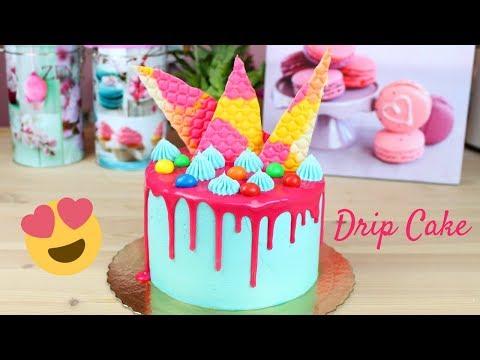 Bolo Drip Cake | Drip Cake com Bolo de Iogurte Lindo e Fácil de Fazer
