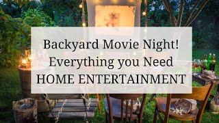 Backyard Home Movie Night Products Ideas