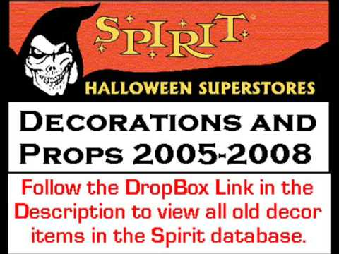 old spirit halloween store decorations and props 2005 2008