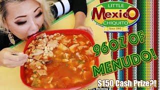 96oz of Menudo Eating Challenge - $150 REWARD !?   Little Mexico Chiquito   RainaisCrazy