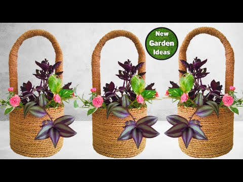 How to Make a Coir Basket//easy Coir Basket making at home//New Method