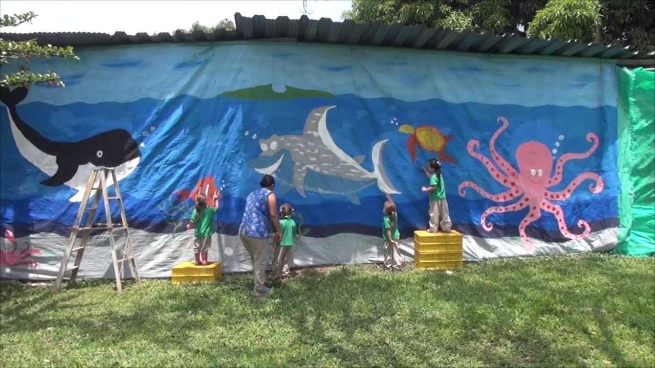 Mural marino alumnos primera infancia jard n infantil for Amiguitos del jardin