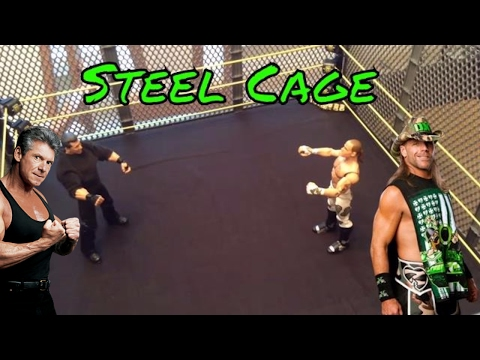 WWE Mr. McMahon vs Shawn Michaels   Steel cage