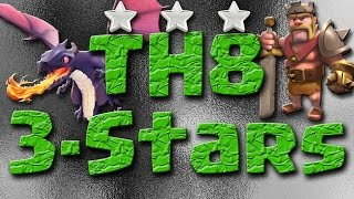 Three Different TH8 Strategies for 3 Star War Attacks | Hogs | Zap Quake Dragon | GoVaHoWi