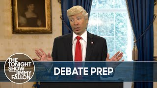 Trump Prepares for His Debate Against Vice President Biden | The Tonight Show