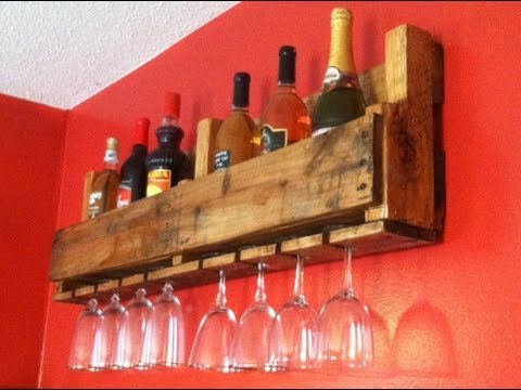 Wine Bottle/Glass Rack - YouTube