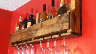 Wine Bottle/Glass Rack(I make a wine bottle/glass rack from a pallet. The Birthplace: A Slice of Wood Workshop Website: http://asliceofwoodworkshop.com Support The Show! Patreon: ..., 2013-03-17T23:05:35.000Z)