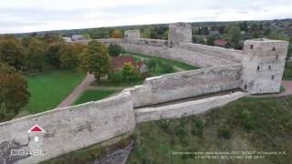 Аэросъемка Изборской крепости