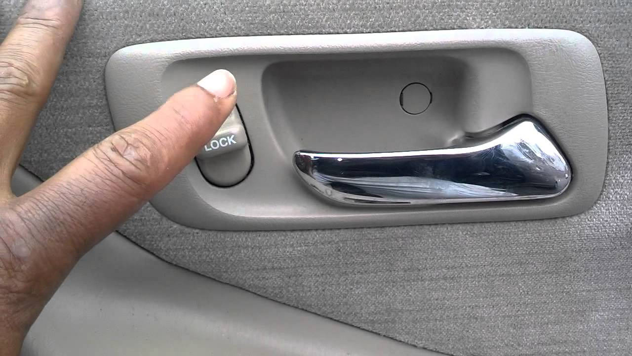 Honda Accord Door Handle Removal, 1998 - 2002 - Auto Repair Series ...