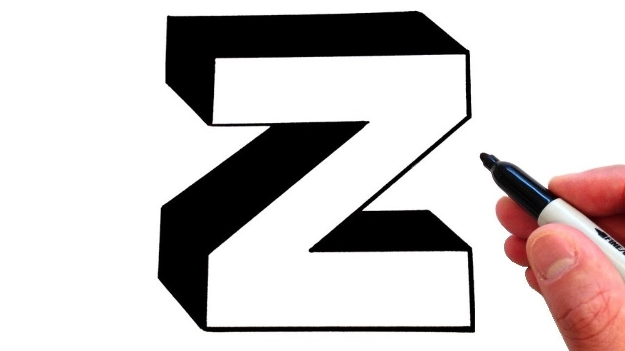 Lowercase Letter Z How to Draw Letter z i...