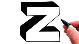 How to Draw Letter z in Lowercase 3D