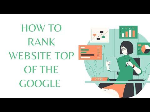 How to Rank My Website Top in Google #6 ways