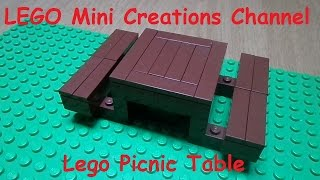 Tutorial - How To Make A Lego Picnic Table (lego Picnic Serie)