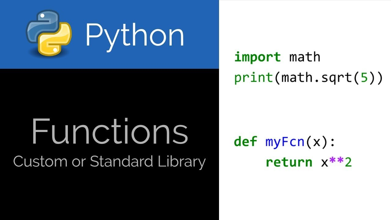 Python 🐍 Libraries and Custom Functions