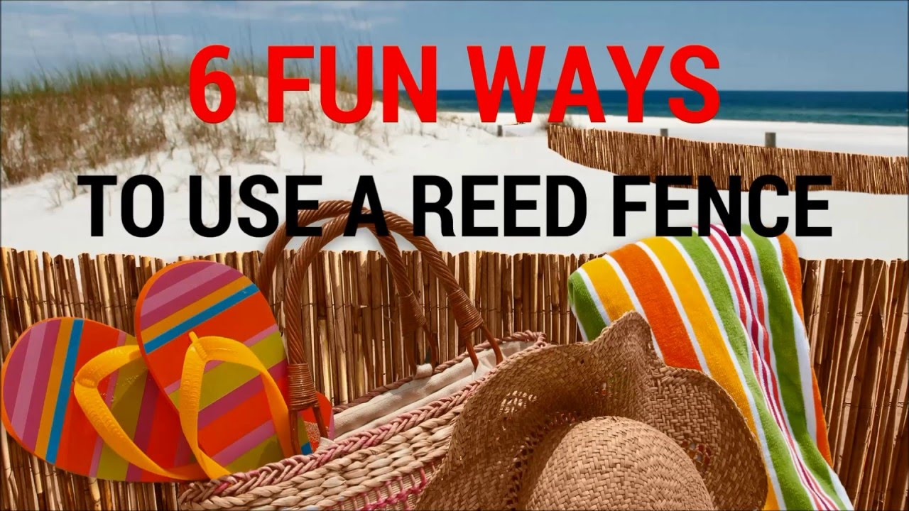 6 fun ways to use a natural reed fence youtube