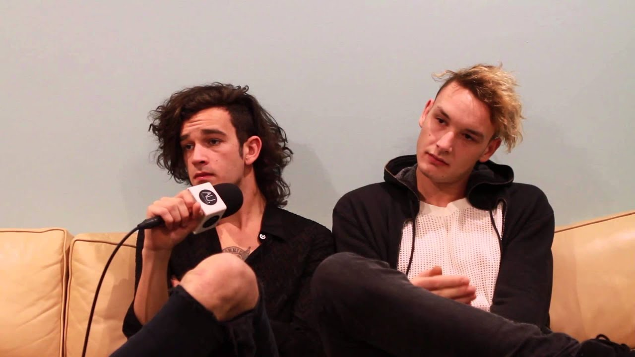 the 1975 matty healy and george daniel interview on