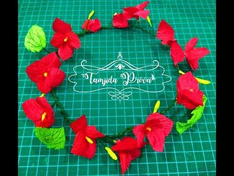 How to Make Floral Tiara || DIY Flower Crown