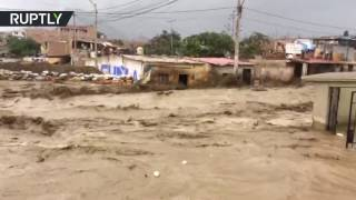 People carried away, houses destroyed  At least 80 dead as mudslides devastate Peru