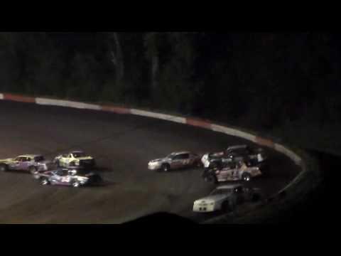 Stock Car Amain @ Hamilton County Speedway 08/25/16 - dirt track racing video image