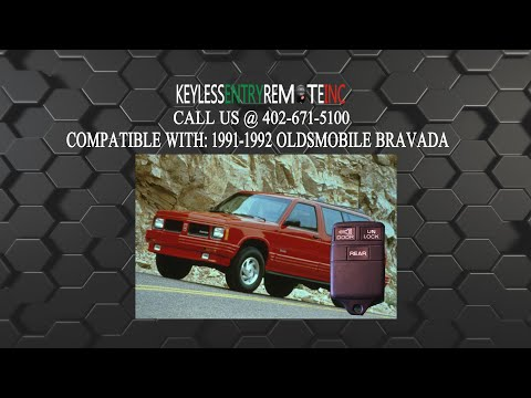 How To Replace Oldsmobile Bravada Key Fob Battery 1991 1992