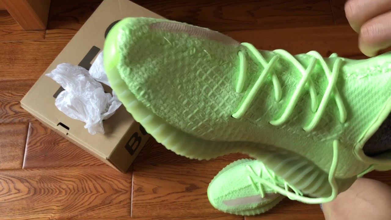 6a04ec024756e Adidas Yeezy Boost 350 V2 Glow in the Dark Review   On Feet - YouTube