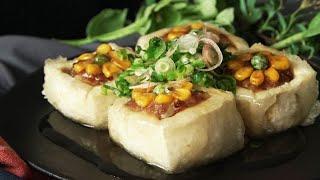 【ほんとヘルシー】ひまわりの肉詰め揚げ出し豆腐🌻 thumbnail