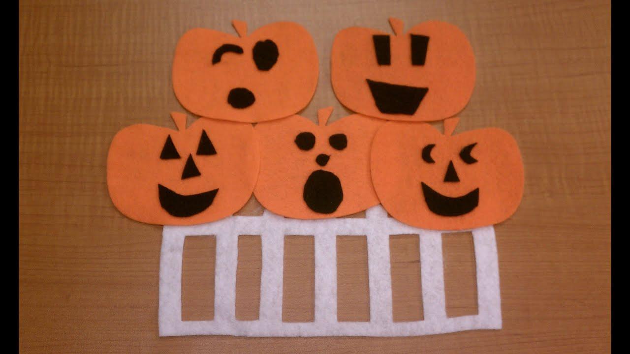 Five Little Pumpkins Sitting on a Gate | Halloween Songs ...