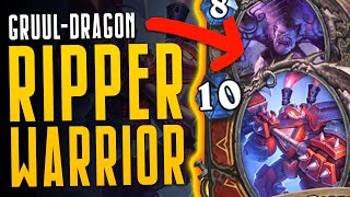 GRUUL RIPPER DRAGON WARRIOR - This Deck is HUGE! - Ashes of Outland - Hearthstone