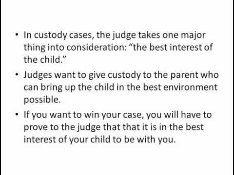 an analysis of the child support issues for custodial mothers and fathers The interests of the child before the mothers and fathers  of his/her child by court order a child-custody custodial issues arose with.